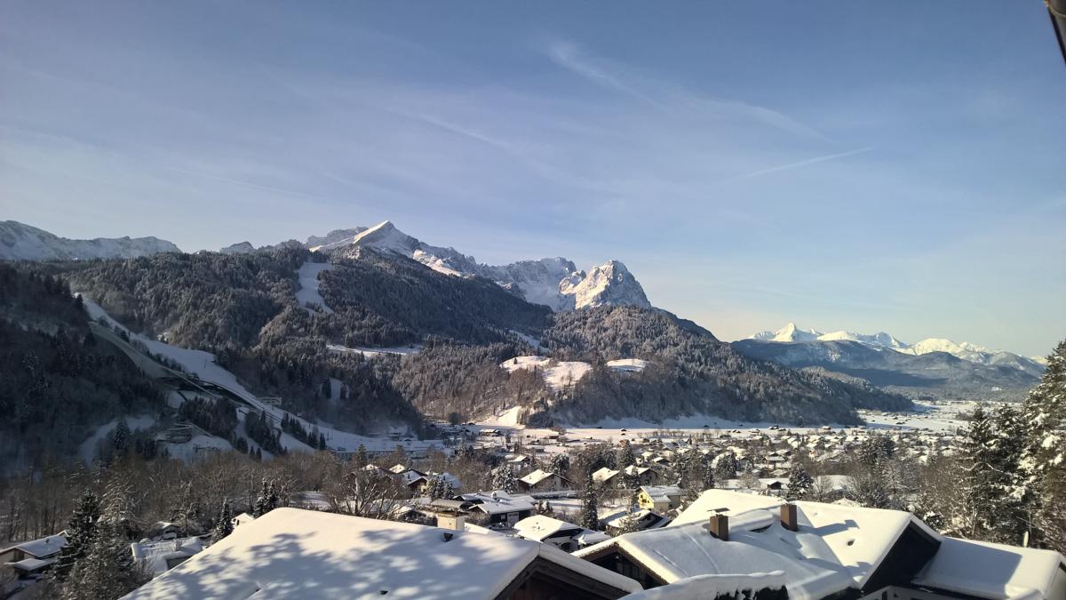 Vaade hotellist Garmischile